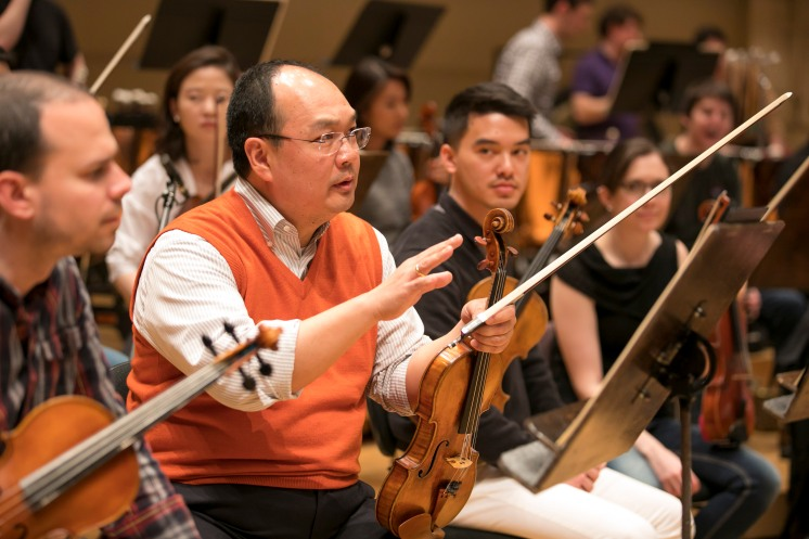 4/1/17 1:48:34 PM -- Chicago, IL USA Civic Orchestra of Chicago CSO Musician coaches sit in with Civic © Todd Rosenberg Photography 2017