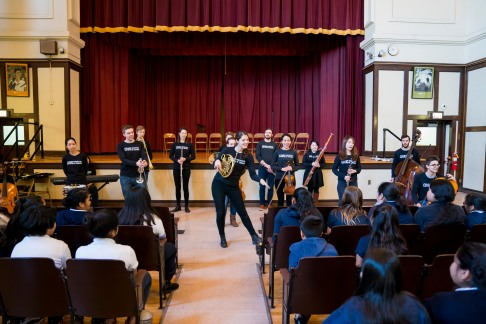 3/13/18 9:09:20 AM The Negaunee Music Institute of the Chicago Symphony Orchestra Civic Orchestra Fellows at Pickard Elementary ©Todd Rosenberg 2018
