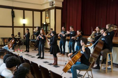 3/13/18 9:53:12 AM The Negaunee Music Institute of the Chicago Symphony Orchestra Civic Orchestra Fellows at Pickard Elementary ©Todd Rosenberg 2018