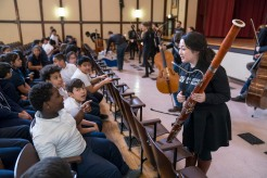 3/13/18 10:02:56 AM The Negaunee Music Institute of the Chicago Symphony Orchestra Civic Orchestra Fellows at Pickard Elementary ©Todd Rosenberg 2018