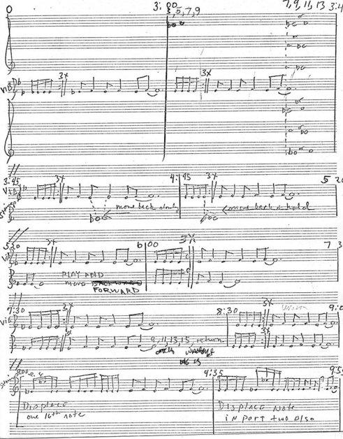 Manuscript of Femenine (excerpt).