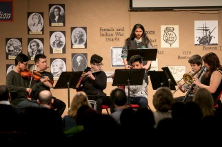 5/9/17 10:33:47 AM -- Chicago, IL Chicago Symphony Orchestra Nauganee Institute Civic Orchestra of Chicago Yo-Yo Ma. Final project culmination at Disney Magnet School. ©Todd Rosenberg Photography 2017